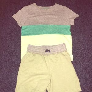 Boys shorts and shirt outfit for playtime!